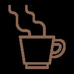 Symbol einer Kaffeetasse im Rahmen der Hygienmaßnahmen im Hotel München Innenstadt