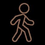 Symbol einer laufenden Person im Zuge des Hygienekonzeptes im Hotel München Innenstadt